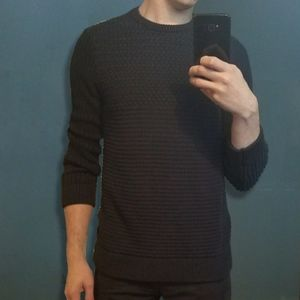 Calvin Klein Chunky Knit Crewneck Sweater (Navy) S